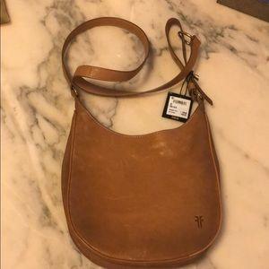 Frye messenger bag, NWT, camel color.